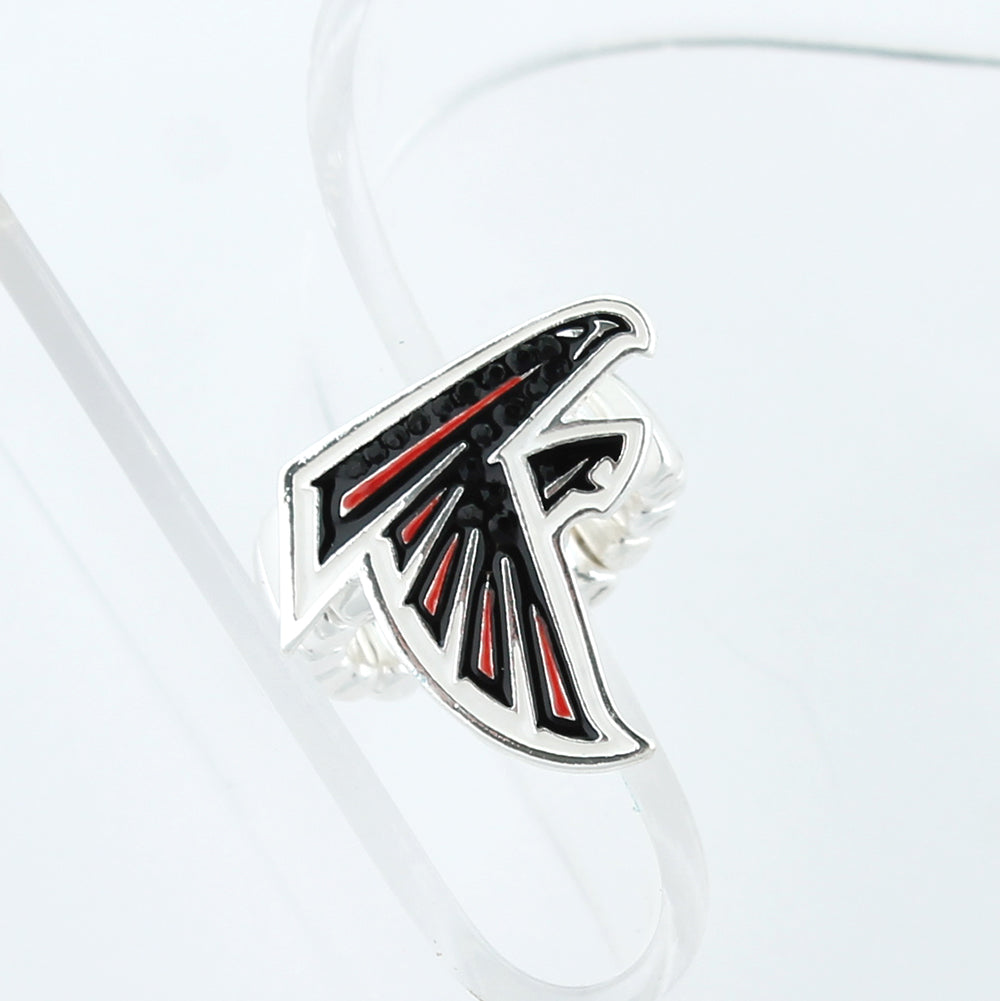 Atlanta Falcons Crystal Logo Stretch Ring
