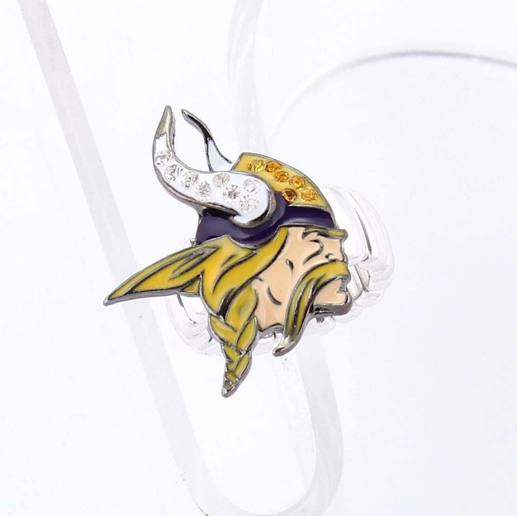 Minnesota Vikings Crystal Logo Stretch Ring
