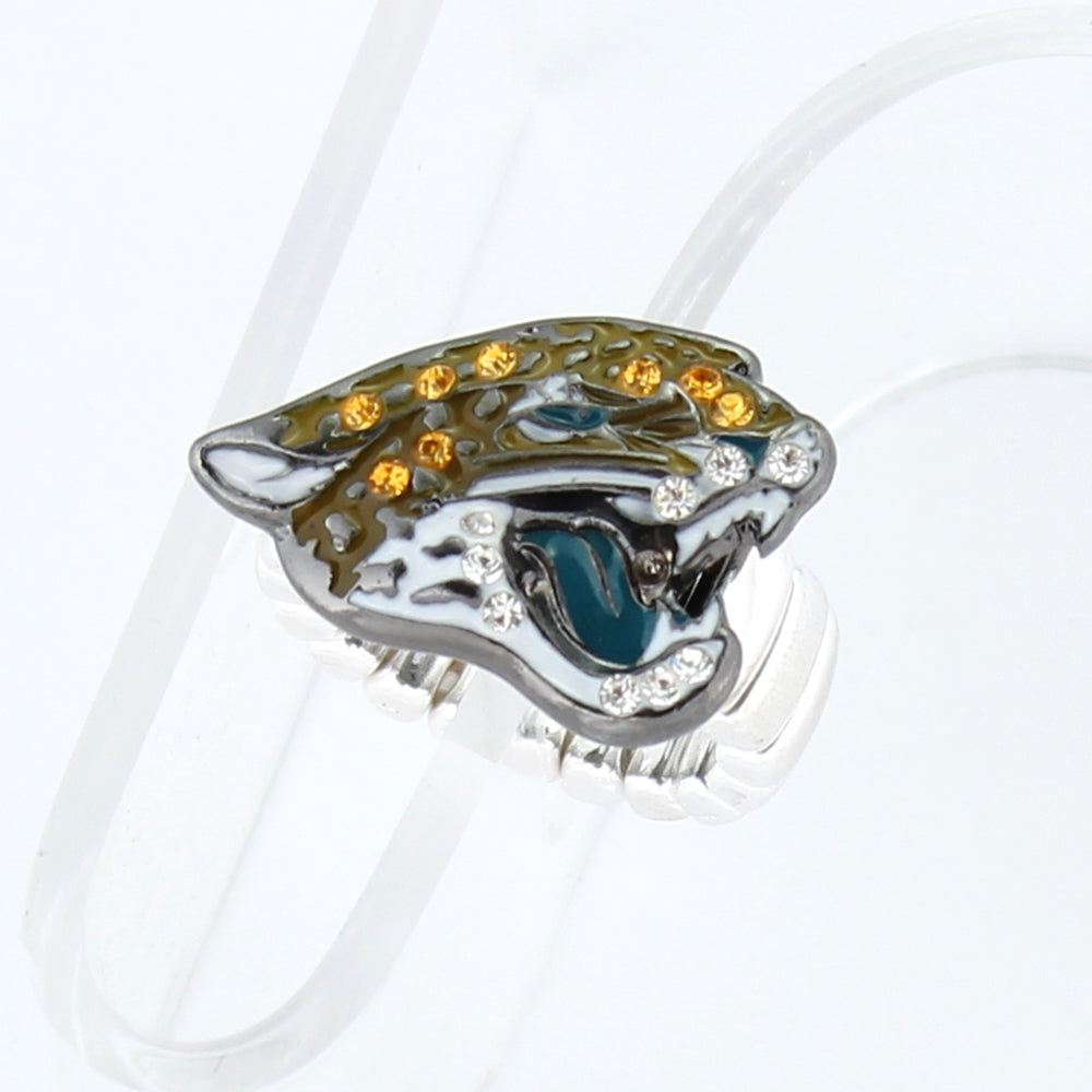 Jacksonville Jaguars Crystal Logo Stretch Ring