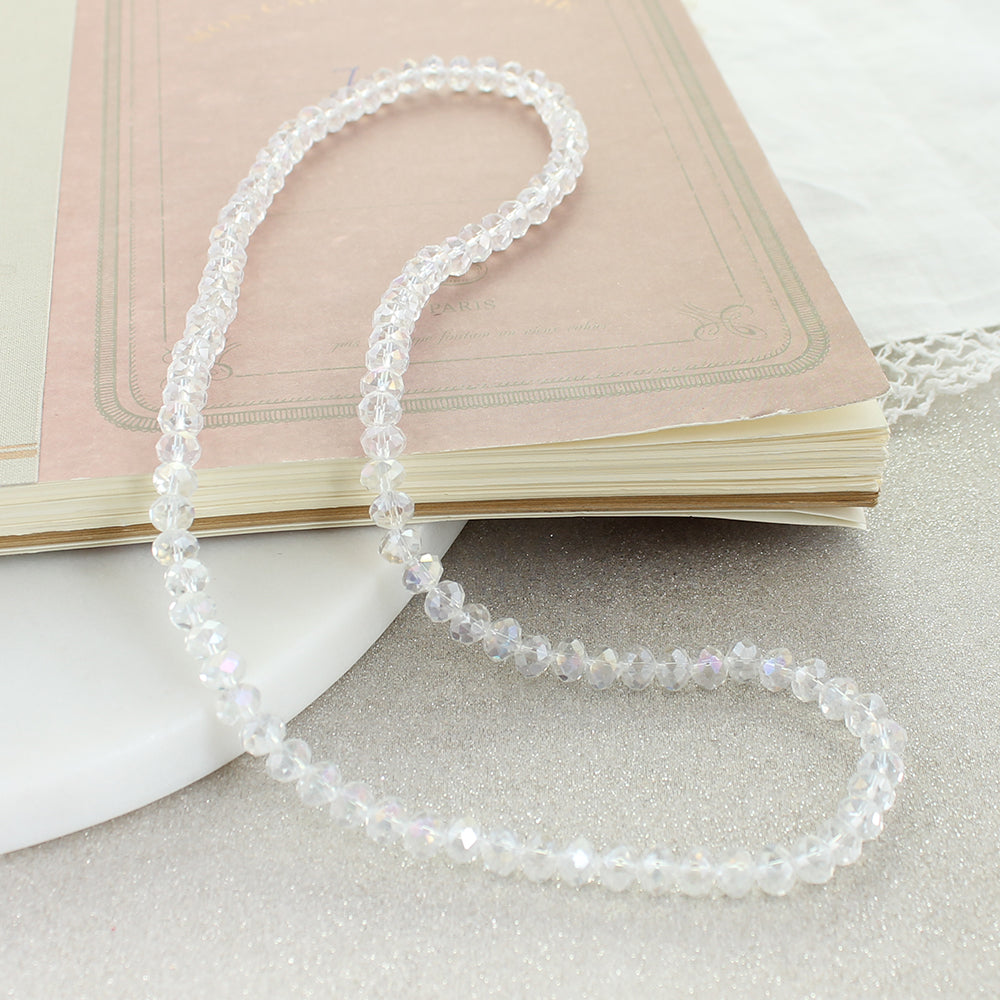 "24"" Iridescent Crystal Stretch Necklace"