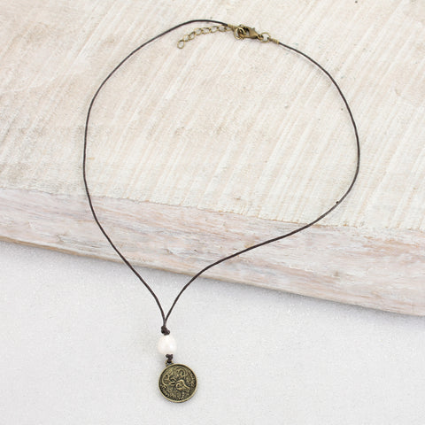 Reineer Coin Cord Necklace