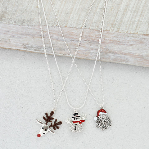 Christmas Trio Necklace Set