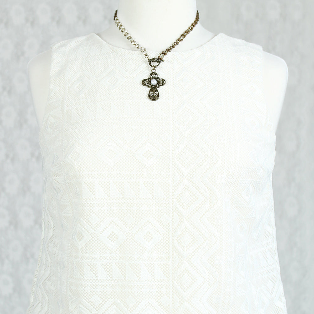 "36"" Filigree Cross Convertible Necklace"