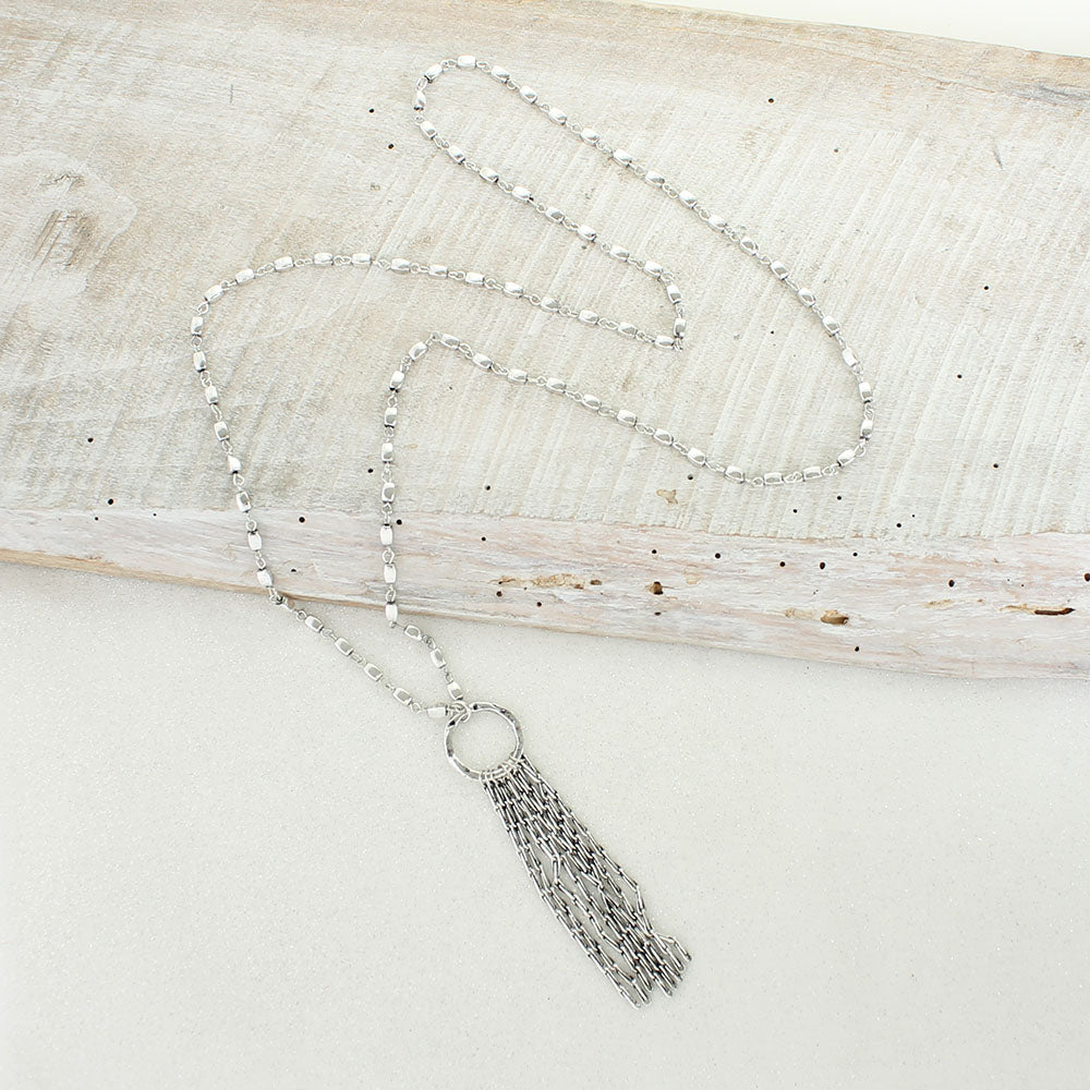Antique Silver Waterfall Necklace