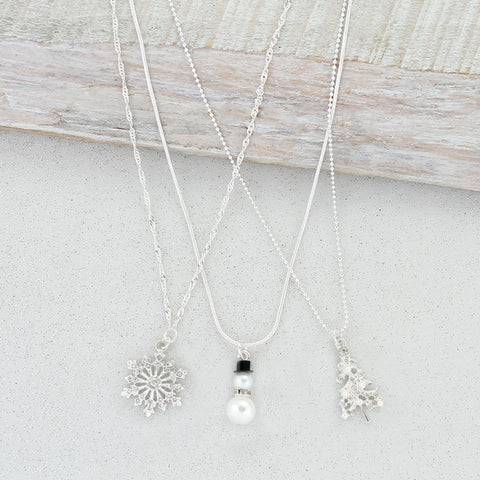 Winter Trio Necklace Set