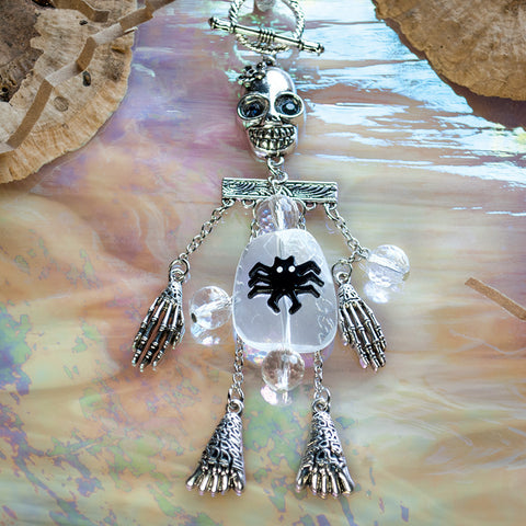 Toggle Charm - Dangle Leg Skeleton