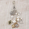 Love Mixed Metal & Pearl Cluster Pendant