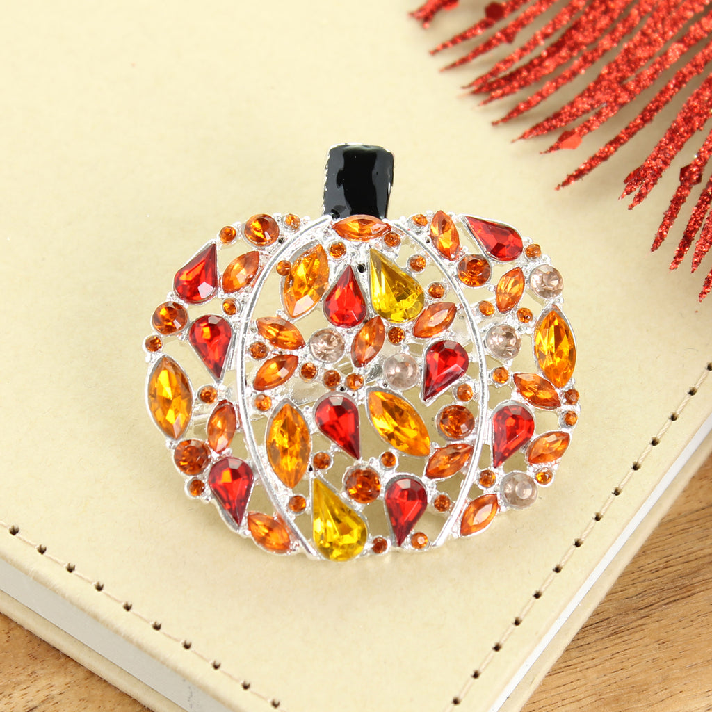 Jewel Pumpkin Pin/Pendant