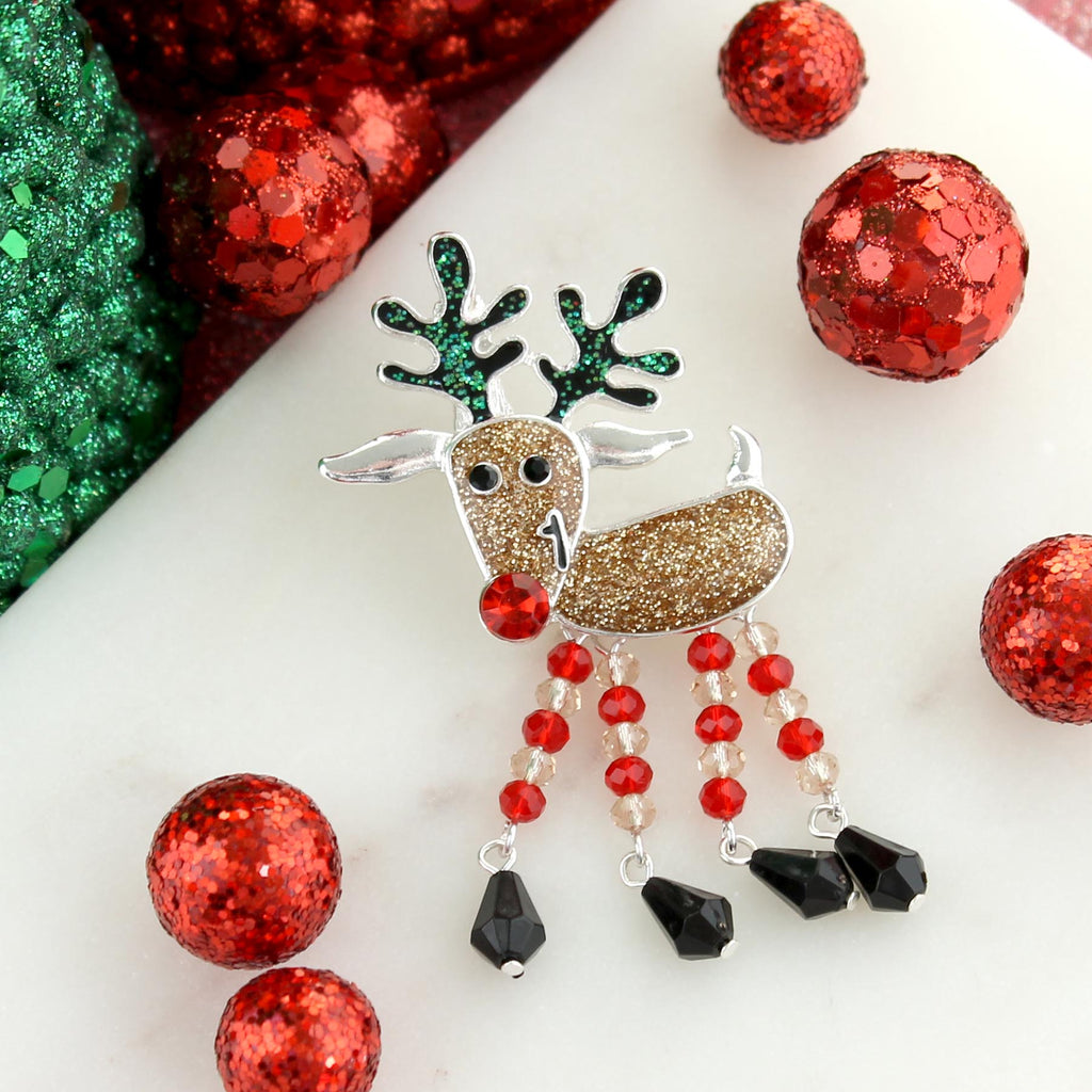 Dangle Leg Reindeer Pin/Pendant