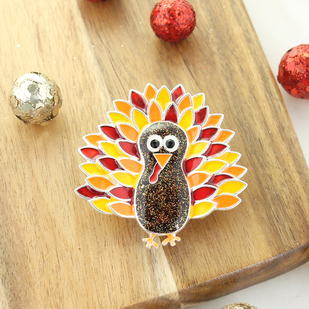 Enamel Turkey Pin/Pendant