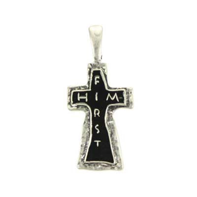Him First Cross Pendant