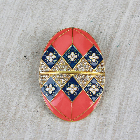 Seasons Jewelry Faberge Egg Pin/ Pendant