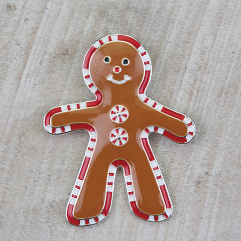 Seasons Jewelry Gingerbread Man Pin/Pendant