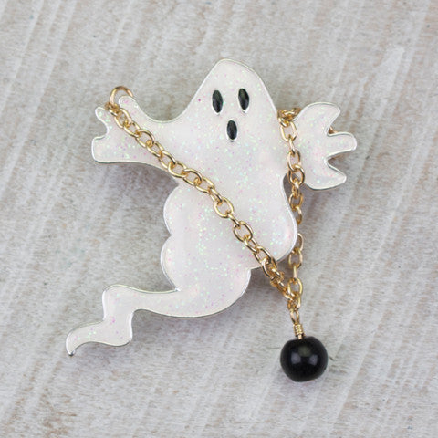 Seasons Jewelry Ghost w/Ball and Chain Pin/Pendant