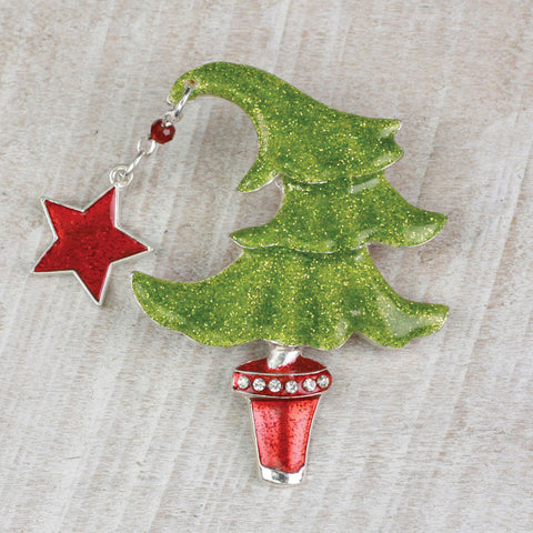 Seasons Jewelry Funky Christmas Tree Pin/Pendant