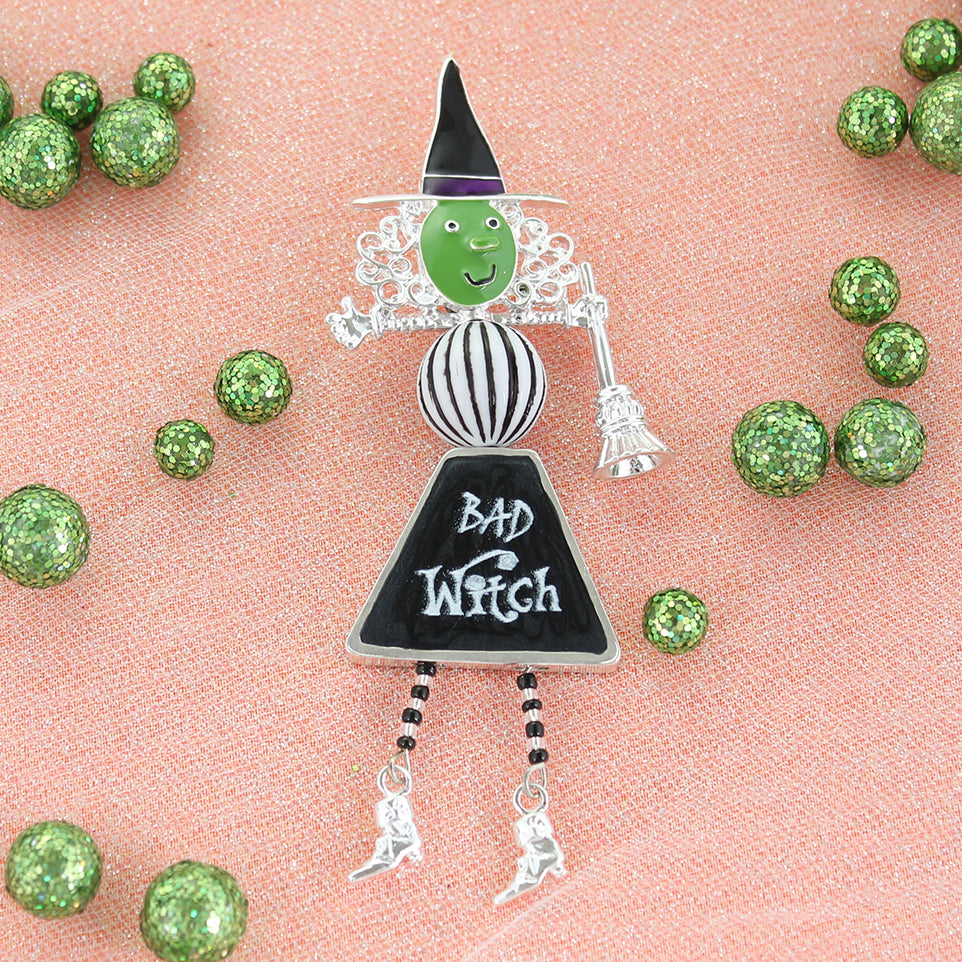 Good Witch/Bad Witch Reversible Pendant