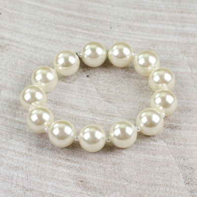 Seasons Jewelry Large Pearl Beaded Bracelet