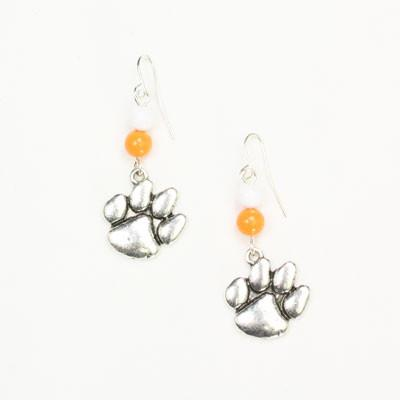 Seasons Jewelry Clemson Wire Logo Earring