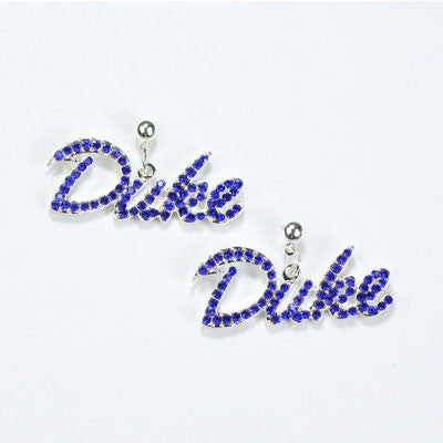 Seasons Jewelry Duke Crystal Logo Earring