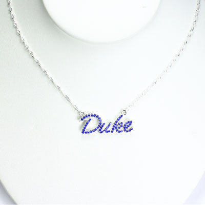 Seasons Jewelry Duke Crystal Logo Necklace
