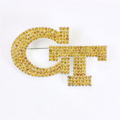 Seasons Jewelry Georgia Tech Crystal Logo Pin