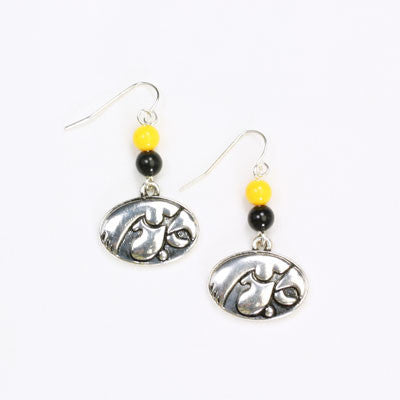 Seasons Jewelry Iowa Wire Logo Earring
