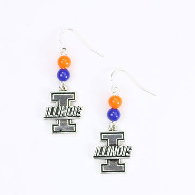 Seasons Jewelry Illinois Wire Logo Earring