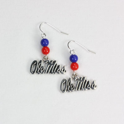 Seasons Jewelry Mississippi Wire Logo Earring