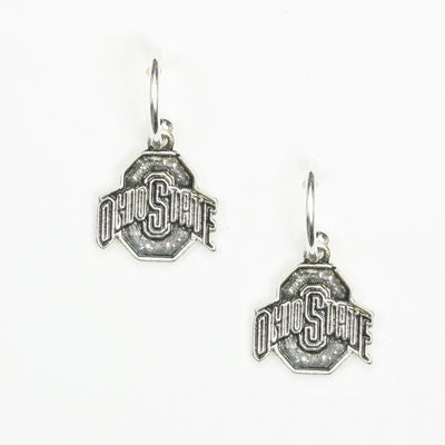 Seasons Jewelry Ohio State Logo Hoop Earring