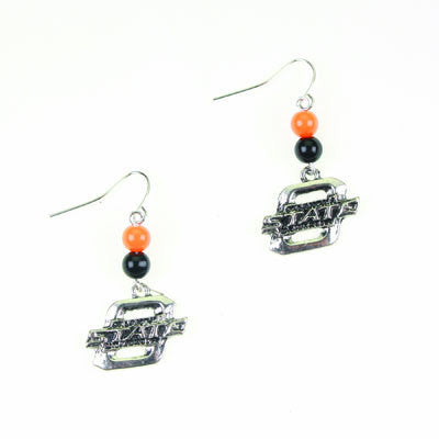 Seasons Jewelry Oklahoma State Wire Logo Earring