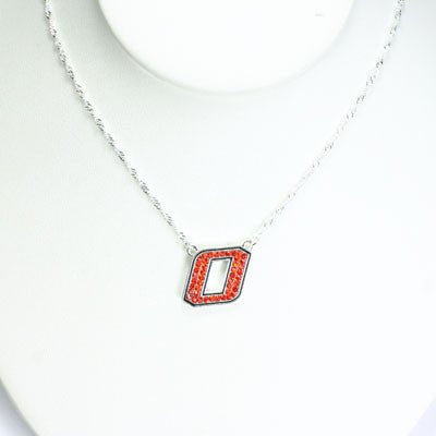 Seasons Jewelry Oklahoma State Crystal Logo Necklace