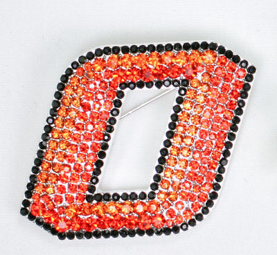 Seasons Jewelry Oklahoma State Crystal Logo Pin