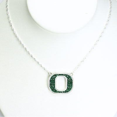 Seasons Jewelry Oregon Crystal Logo Necklace