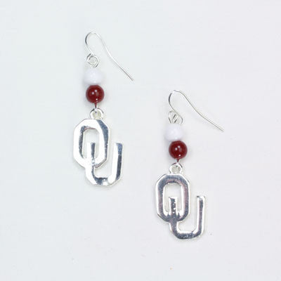 Seasons Jewelry Oklahoma Wire Logo Earring