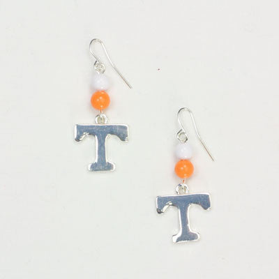 Seasons Jewelry Tennessee Wire Logo Earring