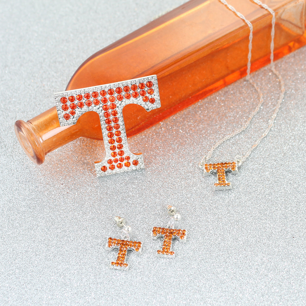 Tennessee Crystal Logo Earrings