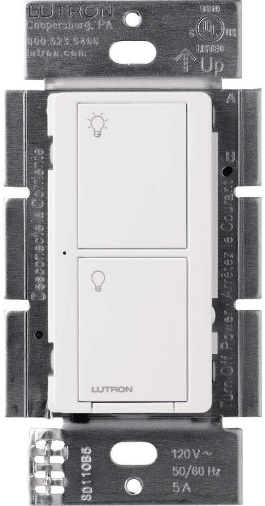 PD-5ANS Caséta Wireless 5A in-wall neutral switch (WH, LA, IV, BL) - MojoControls.com