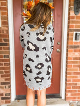 Load image into Gallery viewer, All Cozied Up Leopard Dress