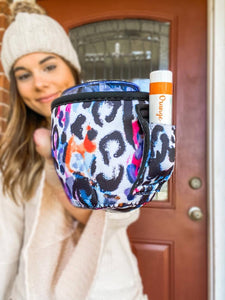 Colorful Cheetah Wine Tumbler Handler