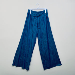Pantalón Pierna Ancha Chambray Lace Up