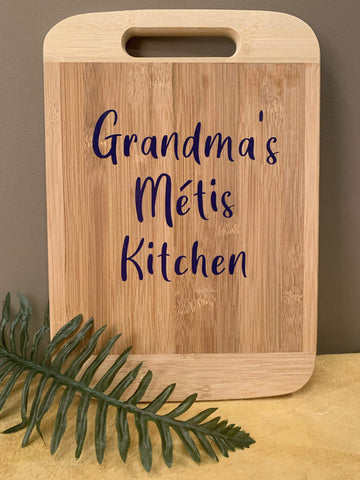 Grandma's Metis Kitchen Cutting Board Art