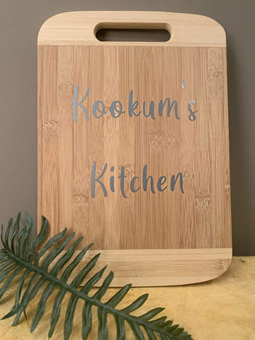 Kookum's Kitchen Cutting Board Art