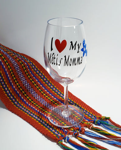 Metis Mothers Day Wine Glass