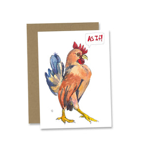 """As If!"" greeting card"