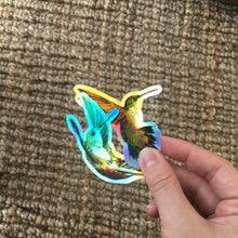 Load image into Gallery viewer, Holographic Hummingbird sticker set