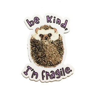 Fragile Hedgehog sticker