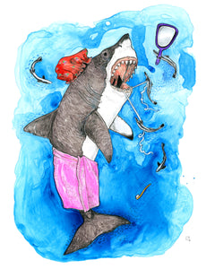 Tidy Shark original art