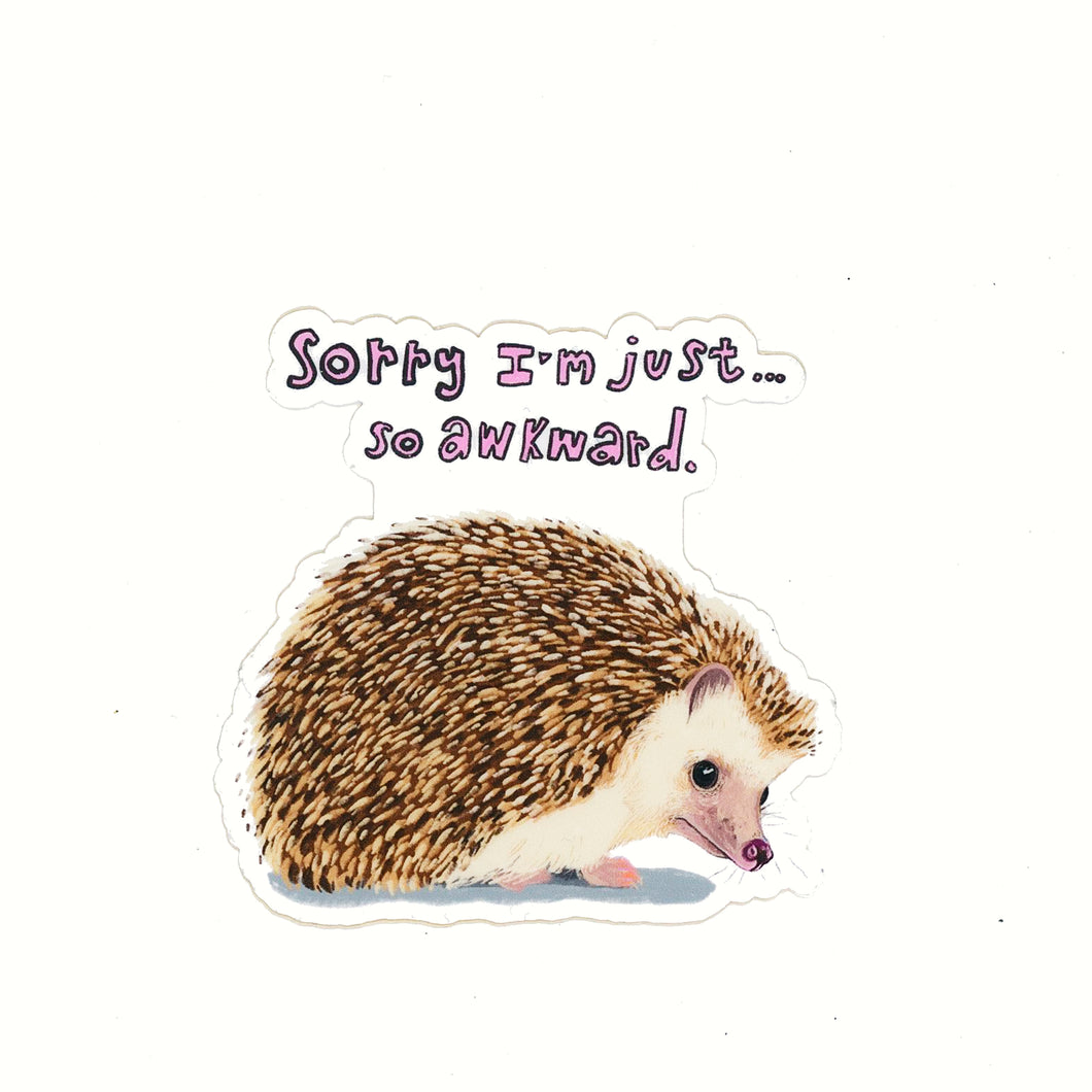 Awkward Hedgehog sticker