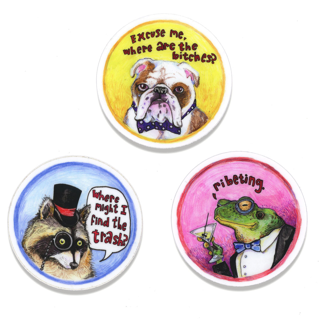 Gentleman Critters sticker set
