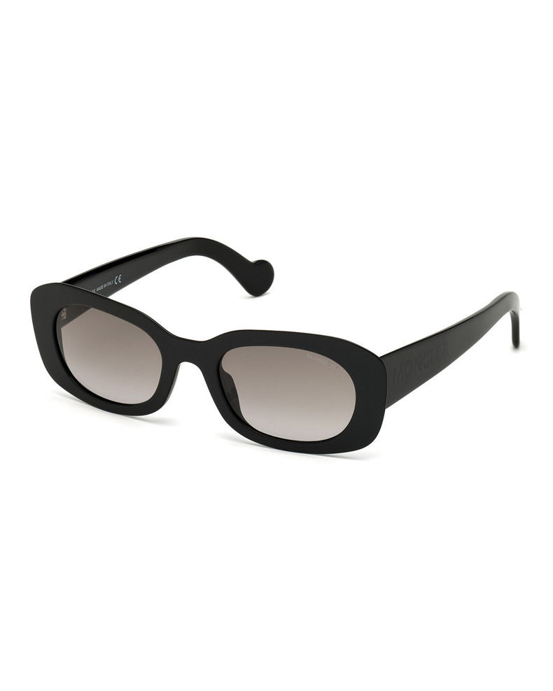 Moncler Oval Sunglasses 52mm Black
